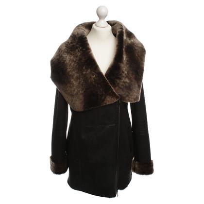 Andere merken Hollert - lamsdarm jas in zwart