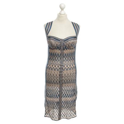 Missoni Figurbetontes Kleid in Blau/Nude
