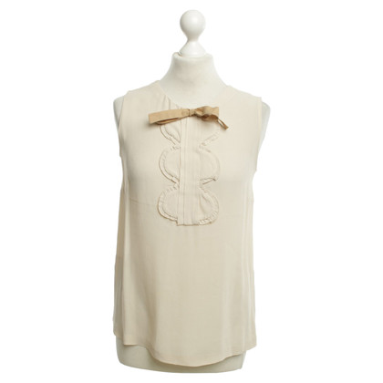 Sandro Sleeveless blouse in cream