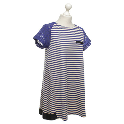 L'autre Chose Dress with stripe pattern