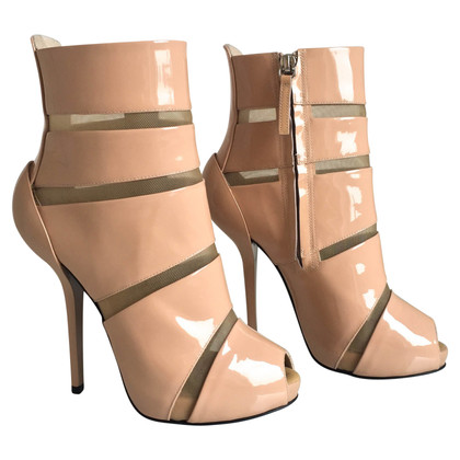 Giuseppe Zanotti Patent leather boots in beige