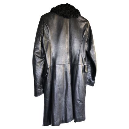 Richmond Leren jas met bont
