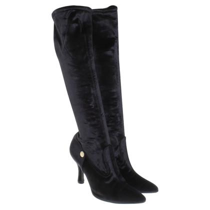 Versace Velvet boots