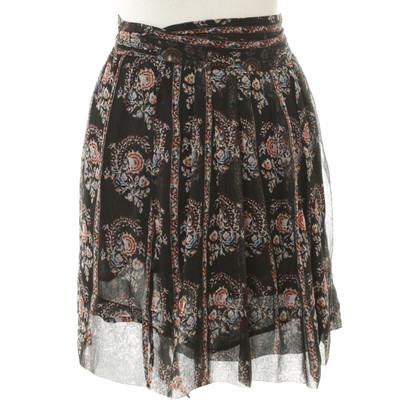 Isabel Marant Etoile Wrap-around rok met bloemenpatroon