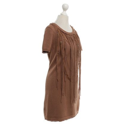 Elisabetta Franchi Knit dress in brown