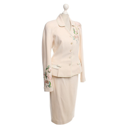 Christian Dior skirt suit in cream white