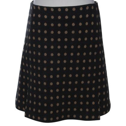 Hobbs skirt in dark gray / light brown