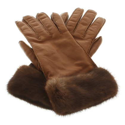 Prada Handschuhe mit Pelzbesatz