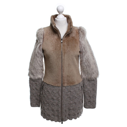 Drome Coat with fur trim