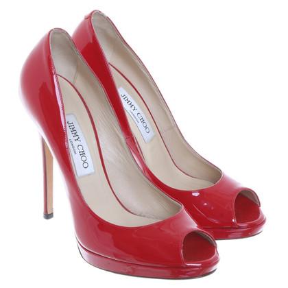 Jimmy Choo Gluren-tenen in het rood
