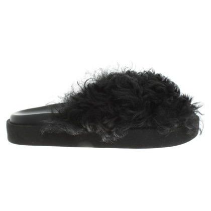 MSGM Slipper with faux fur trim