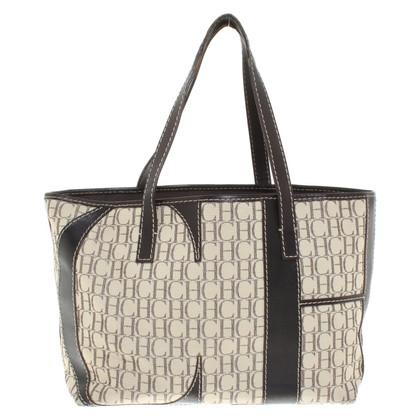 Carolina Herrera Handtasche mit Logo-Muster