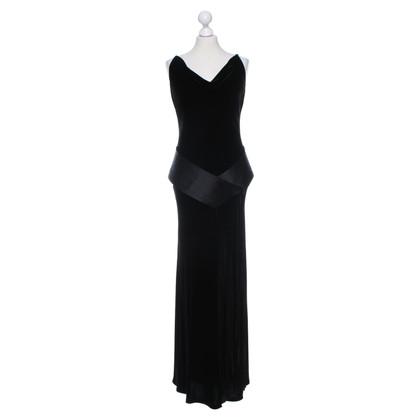René Lezard Fluwelen jurk in zwart