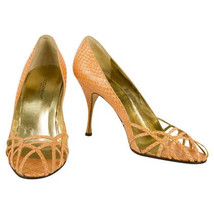 Dolce & Gabbana Sandalen reptiel optica