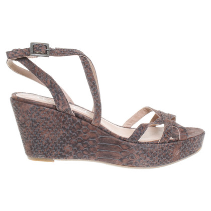 Office London Sandalen met reptiel-print