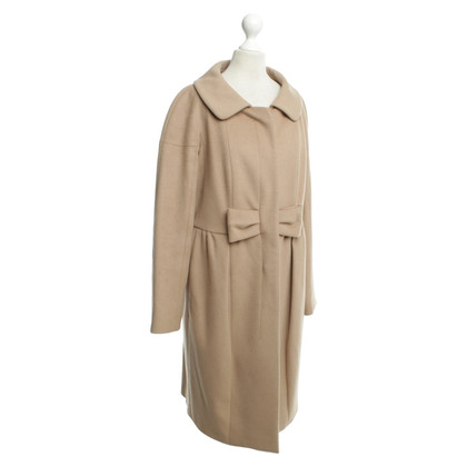 Paule Ka Wool coat with bow
