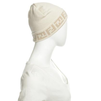 Fendi Woolly Hat in Beige