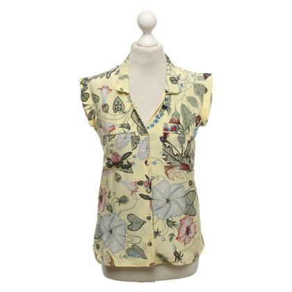 Gucci Sleeveless blouse with a floral pattern