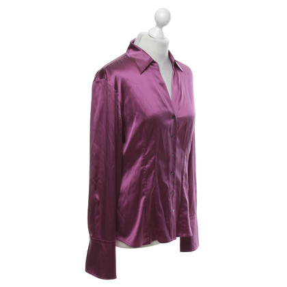 Hugo Boss Silk blouse in fuchsia