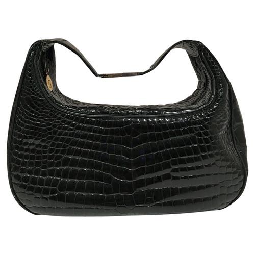 Fendi Vintage Shoulder Bag Made Of Crocodile Leather