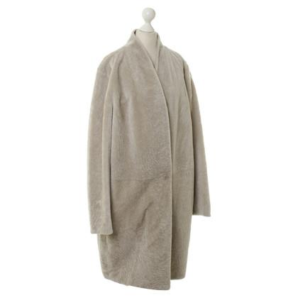 Max Mara Sheepskin coat in grey