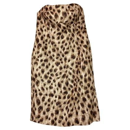 Escada Bustier dress with leopard print