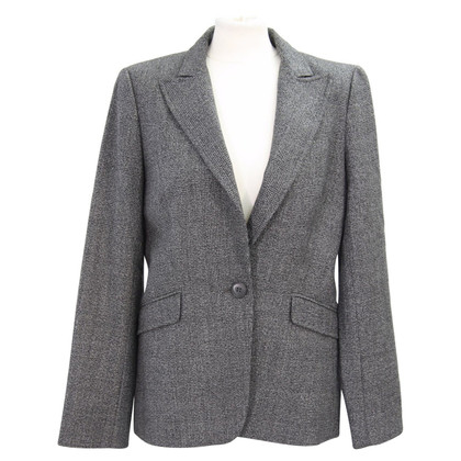 Hobbs Blazer in dark gray with check pattern