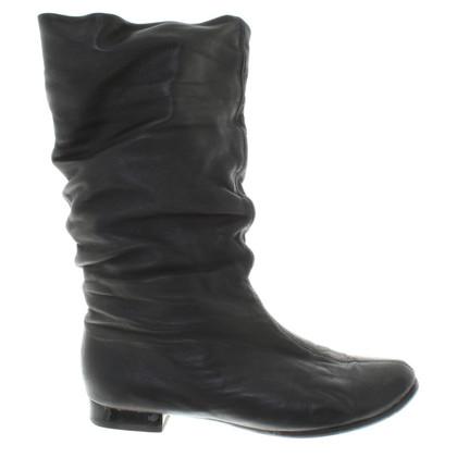 Baldinini Leather boots in black