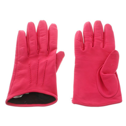 Miu Miu Leather gloves in pink