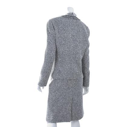 Rena Lange Tweed pak met een blouse