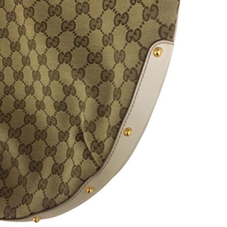 Billig 2018 Neueste Ausgezeichnet Gucci Schultertasche mit Nieten Beige Günstig Kaufen Empfehlen YusoqFshSN