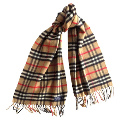 Burberry Cashmere foulard con tartan