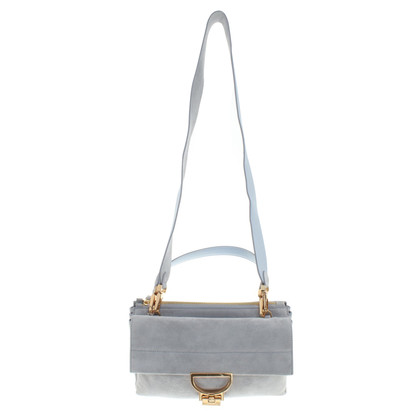 Coccinelle Suede Bag in Blue-Gray