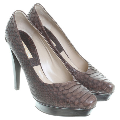 Michael Kors pelle di serpente pumps