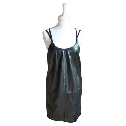Ferre Vestito vintage in pelle con spalline