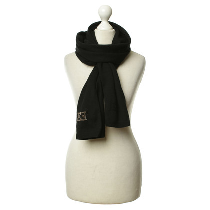 Escada Knitting scarf in black