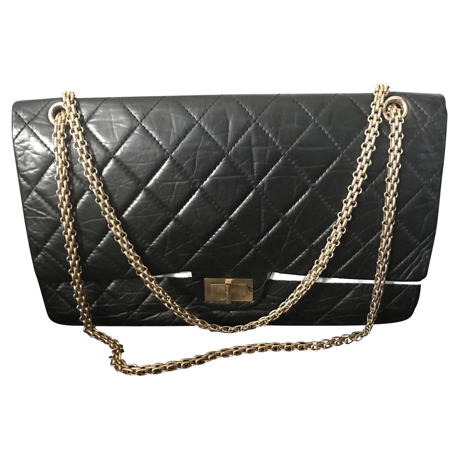 rivenditore di vendita 37ba5 2e5ff Chanel 2.55 in Pelle in Nero - Second hand Chanel 2.55 in Pelle in ...