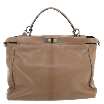 "Fendi ""Peekaboo Bag 40"" in Beige"