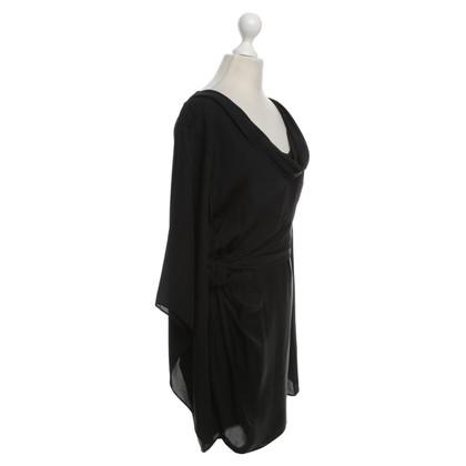 Halston Heritage zijden jurk in zwart