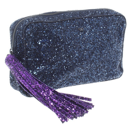 Anya Hindmarch Twinkle Glitter Two Tone Clutch