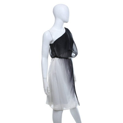 Halston Heritage Dress in black and white