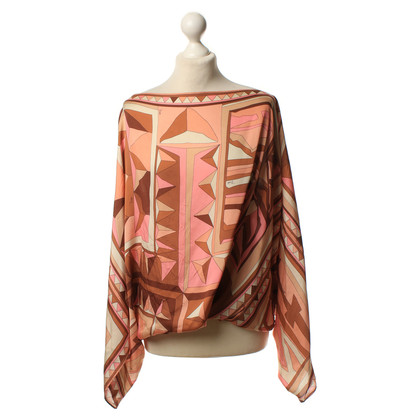 Emilio Pucci Silk blouse with graphic patterns