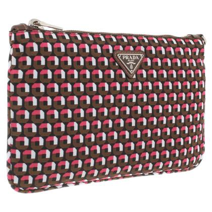 Prada clutch with pattern