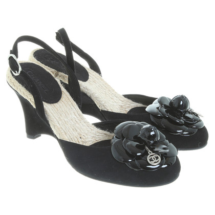 Chanel Wedges in Schwarz