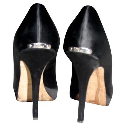 Christian Dior nero peep-dita dei piedi