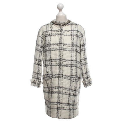 MSGM Coat with plaid pattern