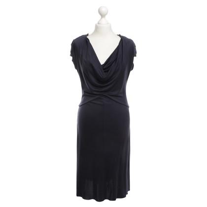 Tory Burch zijden jurk in donkerblauw