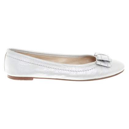 Bogner Silver-colored ballerinas