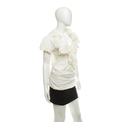 Ralph Lauren Short sleeve blouse in cream white