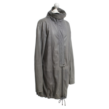 Gestuz Parka in leather vintage look